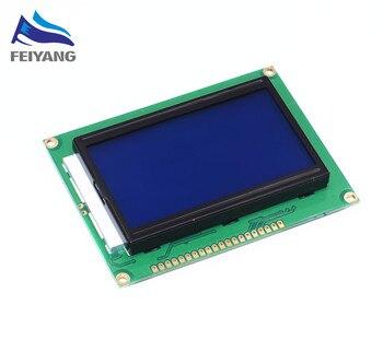 5 adet/grup LCD 12864 128*64 LCD12864 Nokta Grafik Mavi Renkli Işıklı LCD Ekran Shield 5.0 V