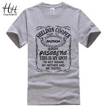 HanHent 新ビッグ理論シェルドン · クーパー Bazinga Tシャツの男性の綿 Tシャツの男 Tシャツオムトップ Tシャツドロップ無料