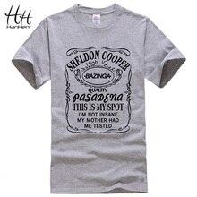 HanHent nowy teoria wielkiego podrywu Sheldon Cooper Bazinga T Shirt mężczyźni bawełniana koszulka dla człowieka Tshirt top męski Tees Drop Shipping