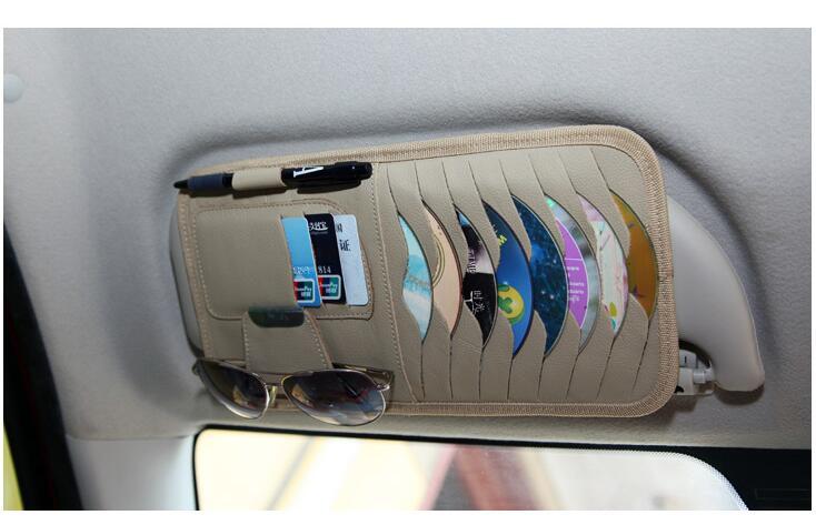 Автомобиль солнцезащиты доска многофункциональный кожа DVD Box Подходит для Jeep Компасы Патриот Rubicon Grand Cherokee Renegade стикер