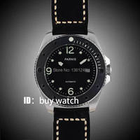 43mm Parnis black dial luminous marks sapphire glass miyota Automatic mens Watch 10ATM black bezel 151