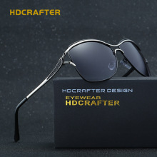 HDCRAFTER 2017 Fashion Cat Eye Women Sunglasses Brand Designer Metal Frame Polarized Glasses Women'S Gafas De Sol Good Quality