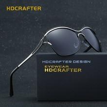 HDCRAFTER 2017 Fashion Cat Eye Women Sunglasses Brand Designer Metal Frame Polarized Glasses Women'S Gafas De Sol Good Quality