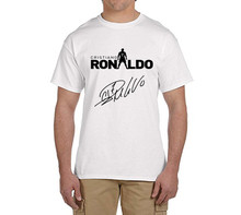 Cristiano ronaldo signed CR7  tee 100% cotton cool t shirts Mens o-neck fashion T-shirts fans gift 0216-17