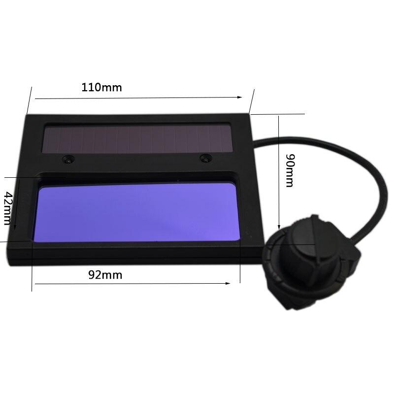máscara botão sensível bateria lítio escurecimento automático