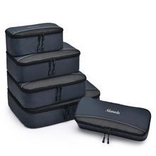 5 sztuk torba na pieluchy pojemnik wewnętrzny kostki do pakowania organizatorzy do podróży z dziecko na zewnątrz bagażu organizery z Panel z siatki tanie tanio ALAMEDA Nylon zipper Garnitury Torby na pieluchy 17 5inch (30 cm Max Długość 50 cm) 4inch Stałe 13 6inch Alameda-RPC-05DG