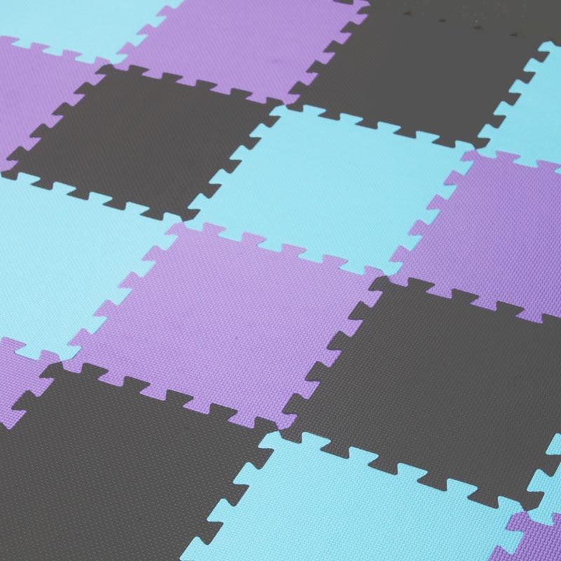 Tapis de Puzzle de jeu de mousse d'eva de bébé de Meitoku pour des enfants/tapis de tapis de plancher de tuiles d'exercice de verrouillage, chacun 32X32 cm, 18 ou 24pc dans un sac - 6