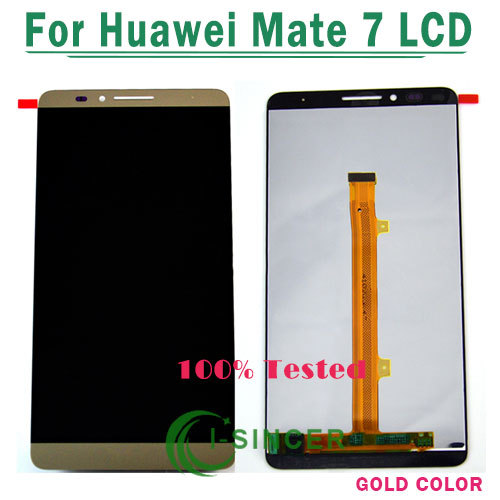 ФОТО White/Gold /Black for Huawei Ascend Mate 7 LCD display screen+Touch digiziter assembly Mate 7 Free Shipping