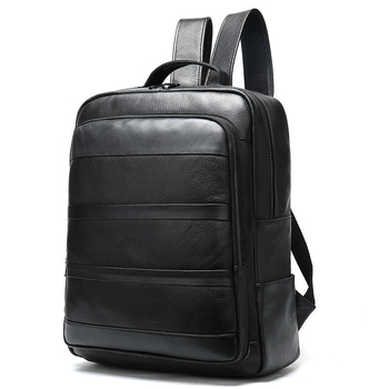 Men's Genuine Cow Leather Backpack Laptop Male School Bag High Quality Men Daypacks Korea Style Casual Travel Bag