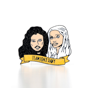 dongsheng Jon Snow and Daenerys Dany Metal Enamel Brooch Pins for Women Men Lapel Pin Backpack Badge-40 image