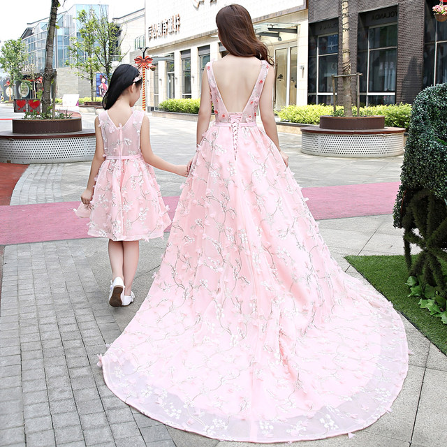 Online Shop Mother Daughter Dresses Family Matching Outfits Wedding ...