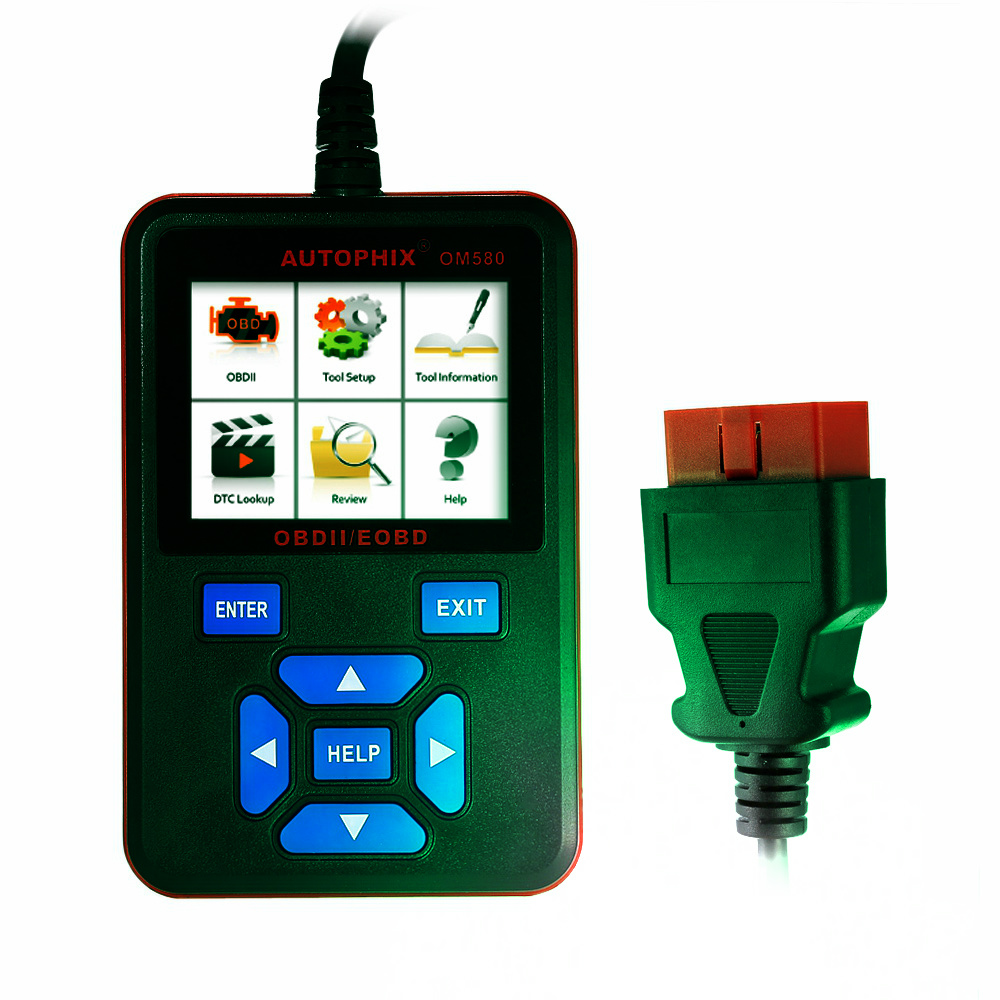 Car Scan Tool OBDMATE OM580 Scan Tool Main Unit AUTOPHIX OBDMate OBD2 Code Reader with Fuel Economy Upgradeable Via Internet