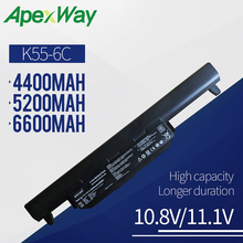 Apexway Laptop battery FOR Asus X75A X75V X75VD X45VD X45V X45U X45C X45A U57VM U57A X55U X55C X55A A32-K55 X55V X55VD 6 Cells