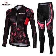 Ropa de Ciclismo para mujer, Jersey de manga larga, ropa para montar bicicleta de montaña