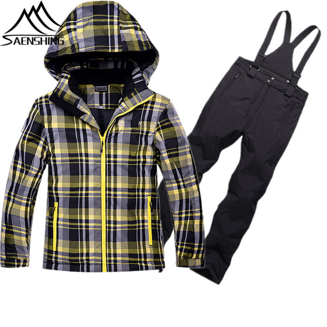 ae552a0d0 Winter Outdoor Suit for Boys Girls Waterproof Breathable Ski Snowboarding  Snow Suits Children Super Warm Outdoor Sports Suits