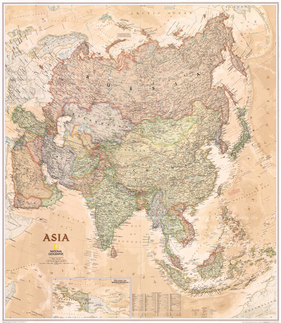 Map of asia vintage wall hanging frameless canvas paintingsmaps map of asia vintage wall hanging frameless canvas paintingsmaps for living room gumiabroncs Choice Image
