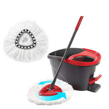 360 Spin Mop Easy Clean Mopping Wring Replacement Heads for Vileda O Cedar Triangle Mophead Keep Room Home Necessary
