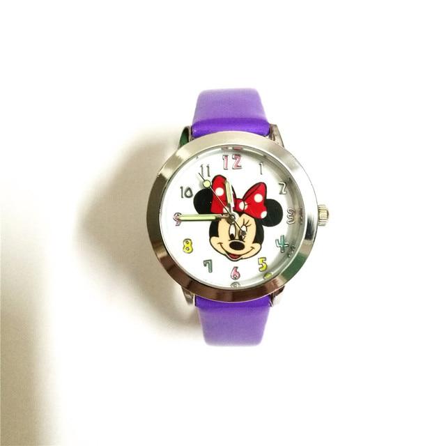 Cartoon Beautiful children girls quartz causal watches Minnie Mouse style kids C
