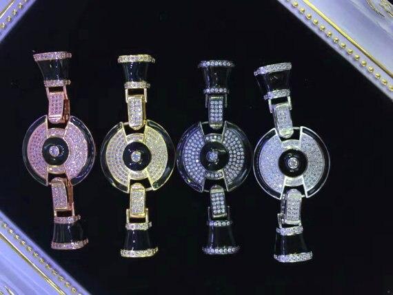 2 pièces 30-50mm Micro Pave Diamant pavé Fermoirs bijoux Micro Pave disque rond beignet lien connecteur En Laiton pendentif