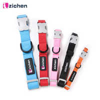 Zichen Pet Cat Collar Dog Collar Adjustable Solid Nylon Durable Small Dog Cat Necklace For Small Medium Large Dog Collar 5 Color