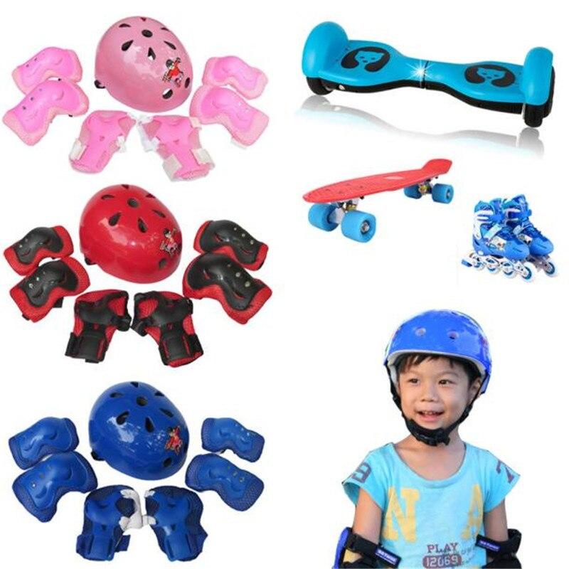 B2 7pcs Kid Child Self Balancing Bike Bicycle Roller Knee Elbow Wrist Helmet Pad Set Kit Wholesale&Retail