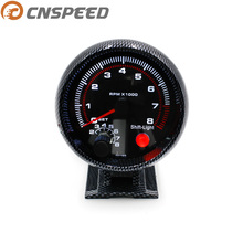CNSPEED 80 мм крутой Углеродный волокно 0-8000 об./Мин Автомобильный Тахометр Датчик об/мин с межсменный светильник гоночный Спидометр YC100144-CN
