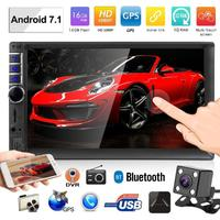 7inch 2 Din Car Audio Stereo 2Din WiFi BT Android Car Stereo MP5 Player GPS Navigator FM Radio Bluetooth with Rear View Camera
