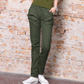 98%Cotton Casual Pants Female Camouflage Elastic Pencil Pants Slim Was Thin Student Trousers Military Cargo Straight Pants Women