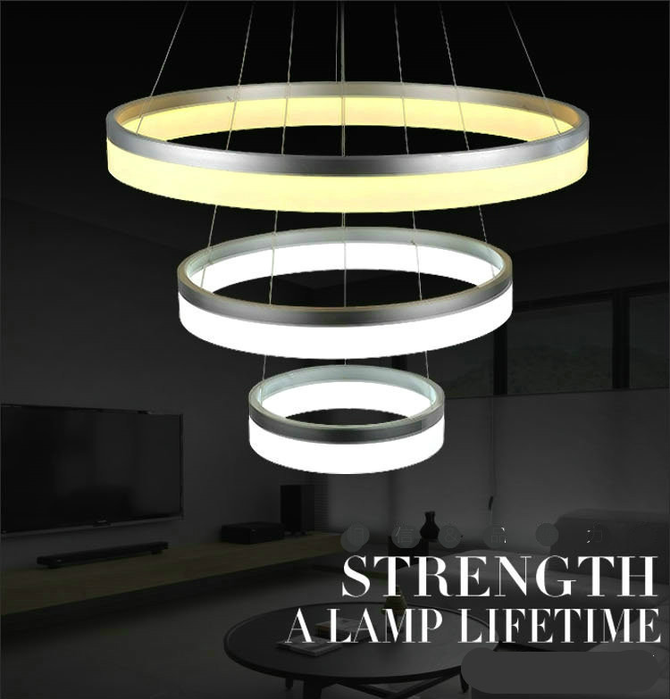Modern Fashion Creative Aluminum Acryl Ring Led E27 Pendant Light For Dining Room Living Room Stair Dia 20/40/60/80cm 1728 gilbert e big magic creative living beyond fear