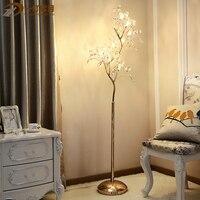 Sala art deco Led Pós-moderna de Cristal Lâmpada de Assoalho de cristal da árvore de Natal levou árvore De Natal casa levou Vloerlamp luz do assoalho