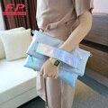 Дамы голограмма сумка дизайнер сумок высокого качества женщины кожаные сумки сумка лазерной голографической женщин crossbody сумки