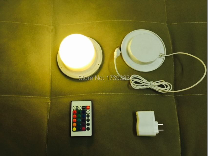 ФОТО 120mm Bulblite wireless rechargeable RGB LED lighting system Waterproof for furniture,Cordless Bulb Lite LED under table light