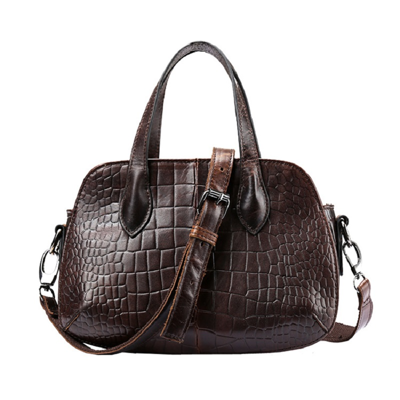 High Quality Women Fashion Design Handbag Genuine Leather Female Small Messenger Bag Vintage Retro Alligator Leather
