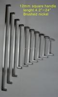 """12*12 мм площади бар дверные ручки из нержавеющей стали, кухонной двери шкафа ручки потяните ручку 4.2 """"~ 24"""