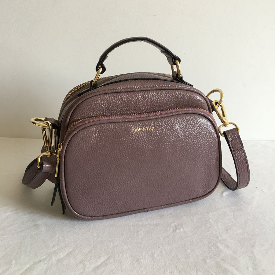 Famous Brand Women Leather Handbags Vintage Brand Designer Shoulder Bags High Quality Top Layer Cowhide Leather