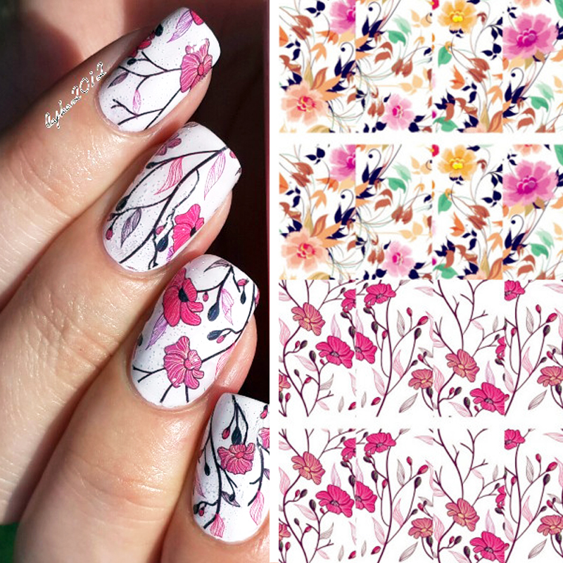 BORN PRETTY Pretty Flower Nail Art Water Decals BP-W04 Transfer Nail Stickers Nail Art Decorations #20595