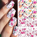 Pretty Flower NACIDO BP-W04 PRETTY Nail Art Calcomanías de Agua Transferencia Nail Stickers Decoraciones Del Arte Del Clavo #20595