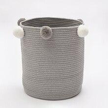 Хлопковая тканая корзина для хранения одежды детские игрушки накопительная корзина для большой складной грязный одежда игрушки и художественный Органайзер держатель