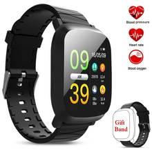 M30 Для мужчин Для женщин Smartwatch 1,3 дюйма мониторинг сна HR крови кислородом Давление монитор IP67 Водонепроницаемый сигнализации браслет Смарт часы