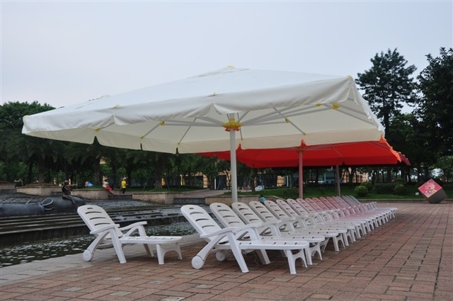 5m Square Empire Umbrella Leisure Outdoor Patio Sun U0016