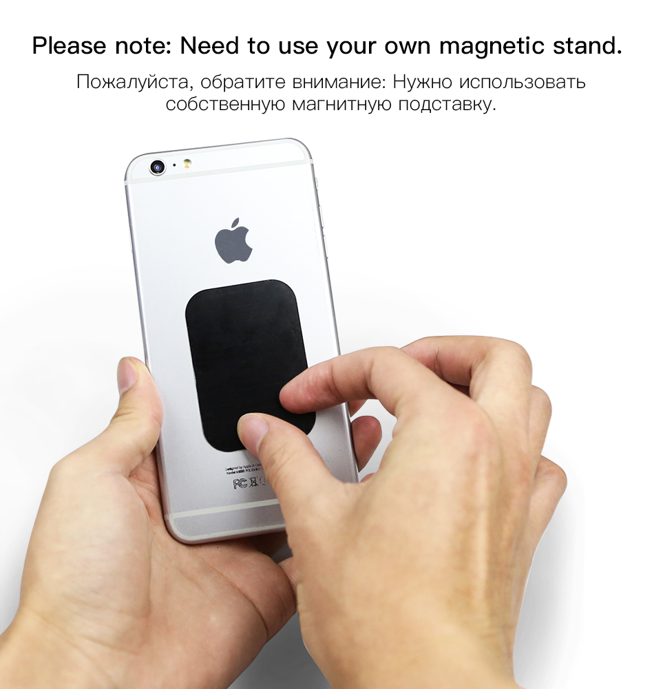 !ACCEZZ 10pcslot Magnetic Metal Plate Disk For Car Phone Holder Iron Sheet Sticker Thin For Magnet Universal Mobile Phone Stand (3)