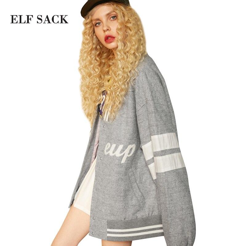 A Elf 22 Mujeres Ouerwear Chaquetas Rayas Saco pink Medio Invierno 1 Grey largo Lana Con De Mujer Tamaño Béisbol Plus Cuello Las Abrigos FF6n84xr