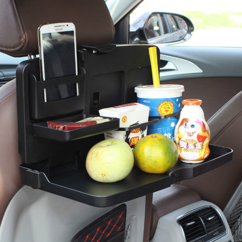auto dining table car food back seat folding tray cup holder drink desk kids beverage tray