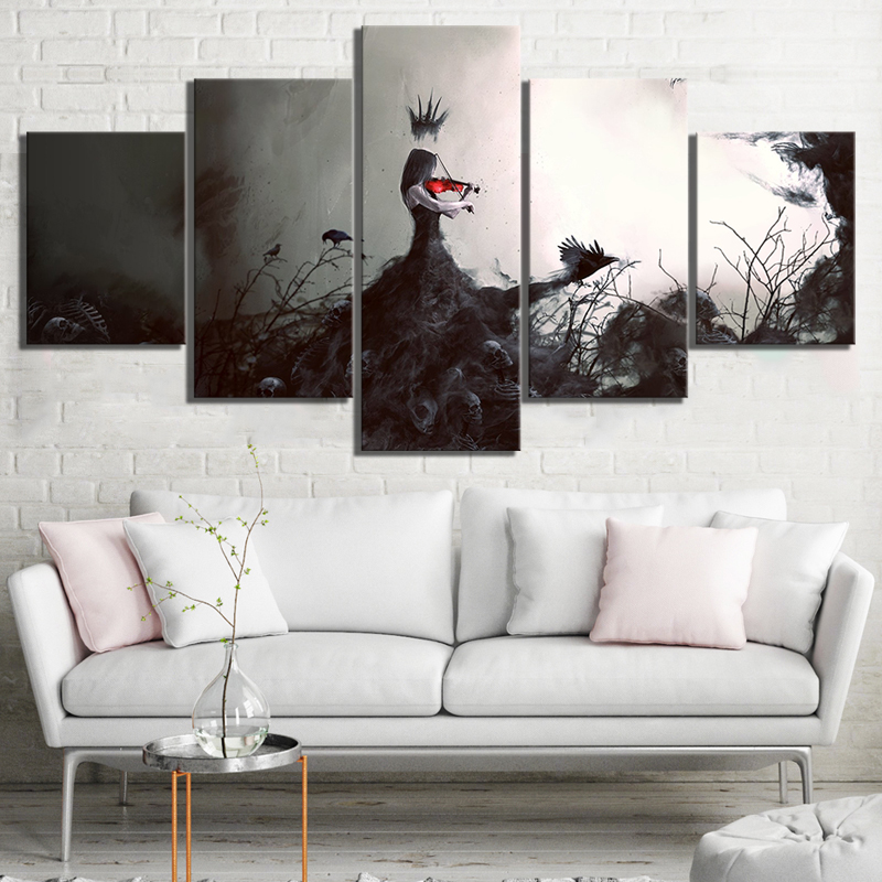 5 Piece Abstract Art Paintings Woman Playing The Violin Pictures Artwork Canvas Art Wall Paintings for Bedroom Wall Decor 1