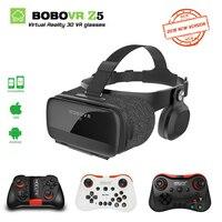BOBOVR Z5 120 FOV 3D VR Virtual Reality Glasses Remote Android Cardboard Headset Stereo Helmet Box +Gamepad for Smartphones 2.0