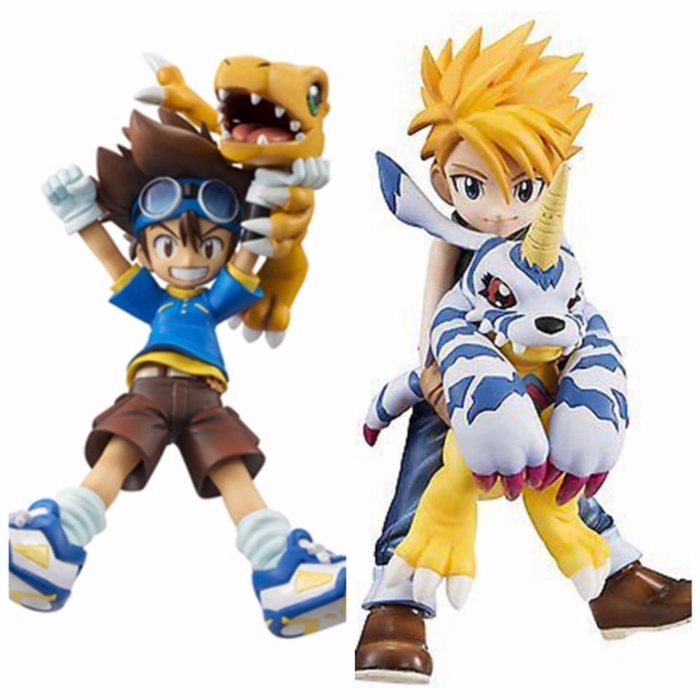 Digimon Adventure Figure Agumon Figure Gabumon Figure YAGAMI TAICHI ISHIDA YAMATO Action Figure Model Doll Collection Box