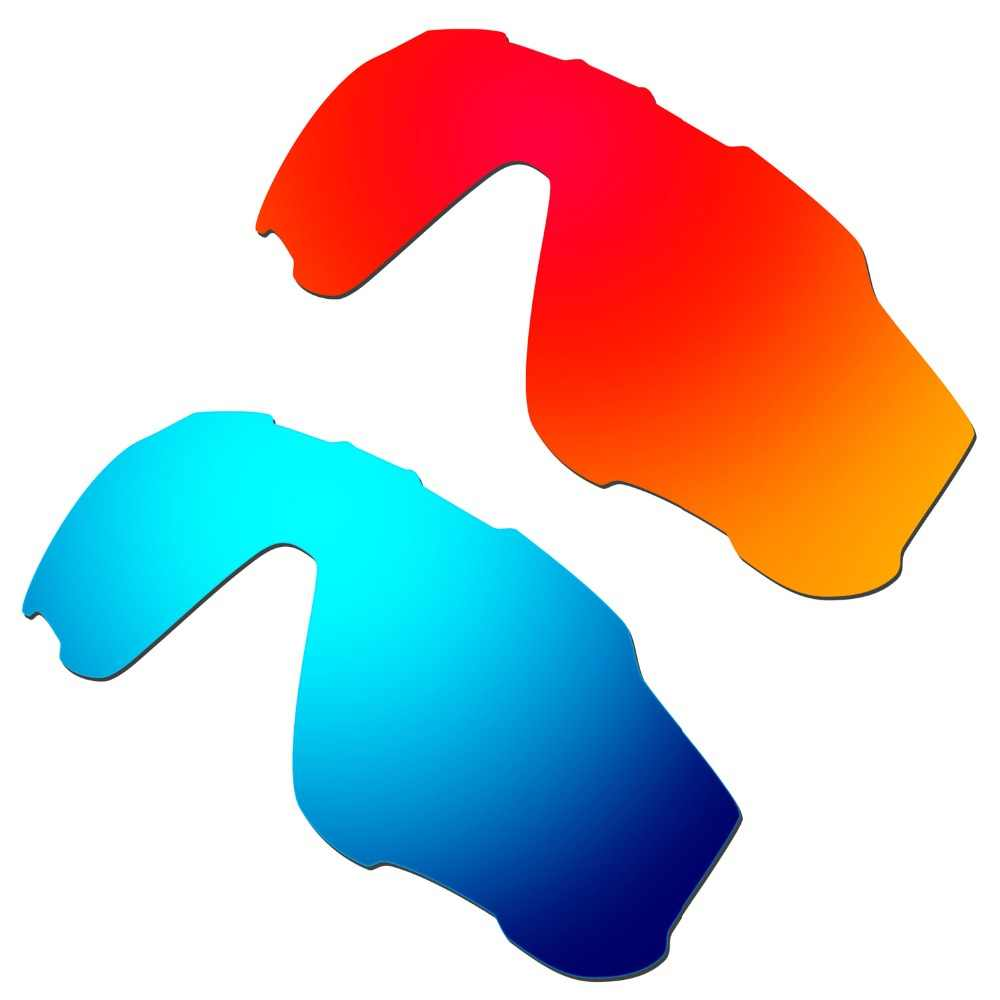 2b63d734f5e HKUCO Red Blue 2 Pairs Polarized Replacement Lenses For Jawbreaker  Sunglasses Increase Clarity 100%