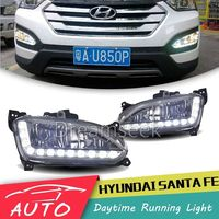 DRL For Hyundai IX45 Santa Fe 2013 2014 LED Car Daytime Running Light Relay Waterproof Driving Fog Day Lamp Daylight
