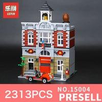 With Light 2418Pcs 15010B 15010 Lepin Creator Expert City Street Parisian Restaurant Model Building Blocks Toy