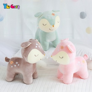 Image 2 - Cute Deer Plush Toy Soft Plush baby Doll Stuffed Animals Appease Toys Kids  Birthday Gifts Christmas Gifts Decoration Toy